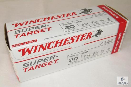 Box 100 Rounds Winchester 20 Gauge Target Load Shotgun Shells