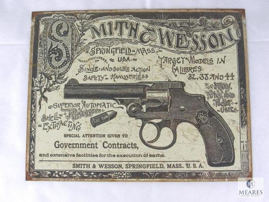 New Smith & Wesson Top Break Revolver Vintage Look Tin Sign