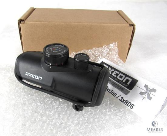 New Axeon TriSyclon 3XRDS 1x30 RGB Dot Sight Tactical Gun Sight