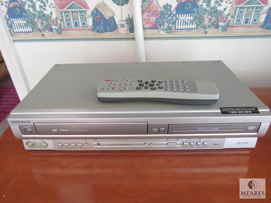 Magnavox 4 head DVD CD player VCR combination