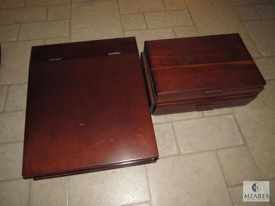 Lot of two small wooden boxes one Cedar