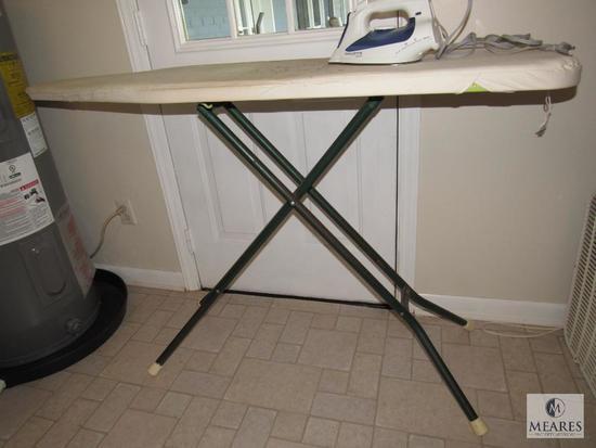 Folding ironing board & Rowenta iron