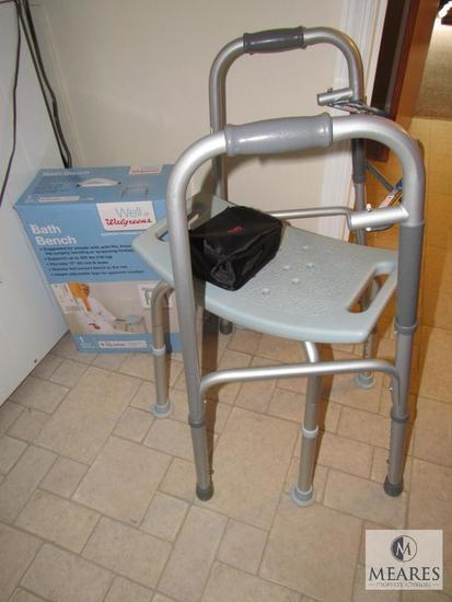 Lat medical supplies blood pressure cuff shower seat and Walker