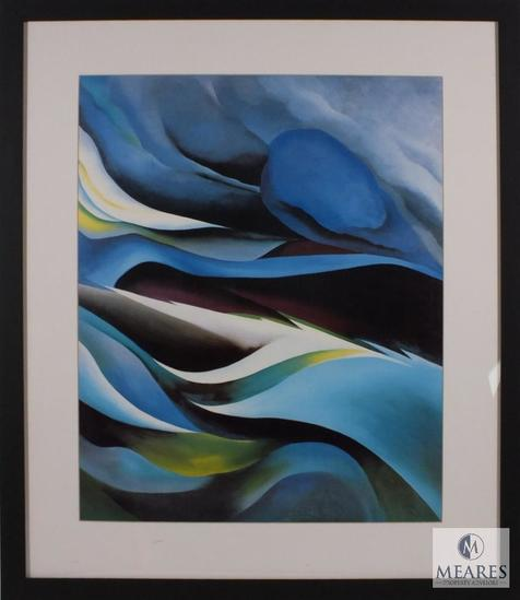 "Abstract Art Print Matted & Framed 31""x21"" Artist unknown"