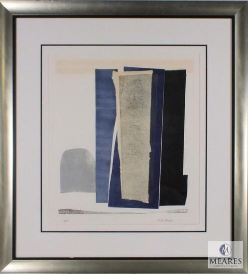 "Ruth Eckstein signed Abstract Modernist Art Print Framed 32"" x 30"""