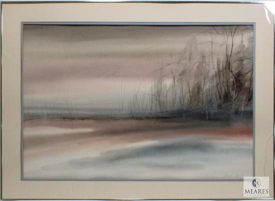 "D. Mayso ""waters edge / shorte scene"" Signed Print Framed 44"" x 33"""