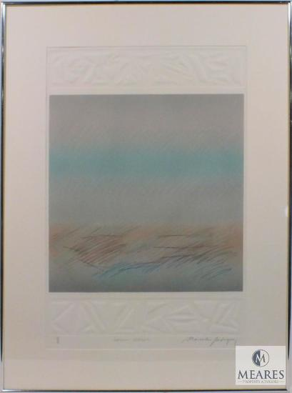"M. Rodriguez Impressions Landscape 1 of 1 Abstract Art Signed and Framed 35"" x 26"