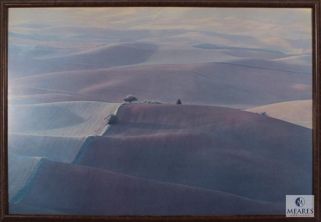 """rolling hills"" Framed Photo Print 31"" x 22"" Artist unknown"