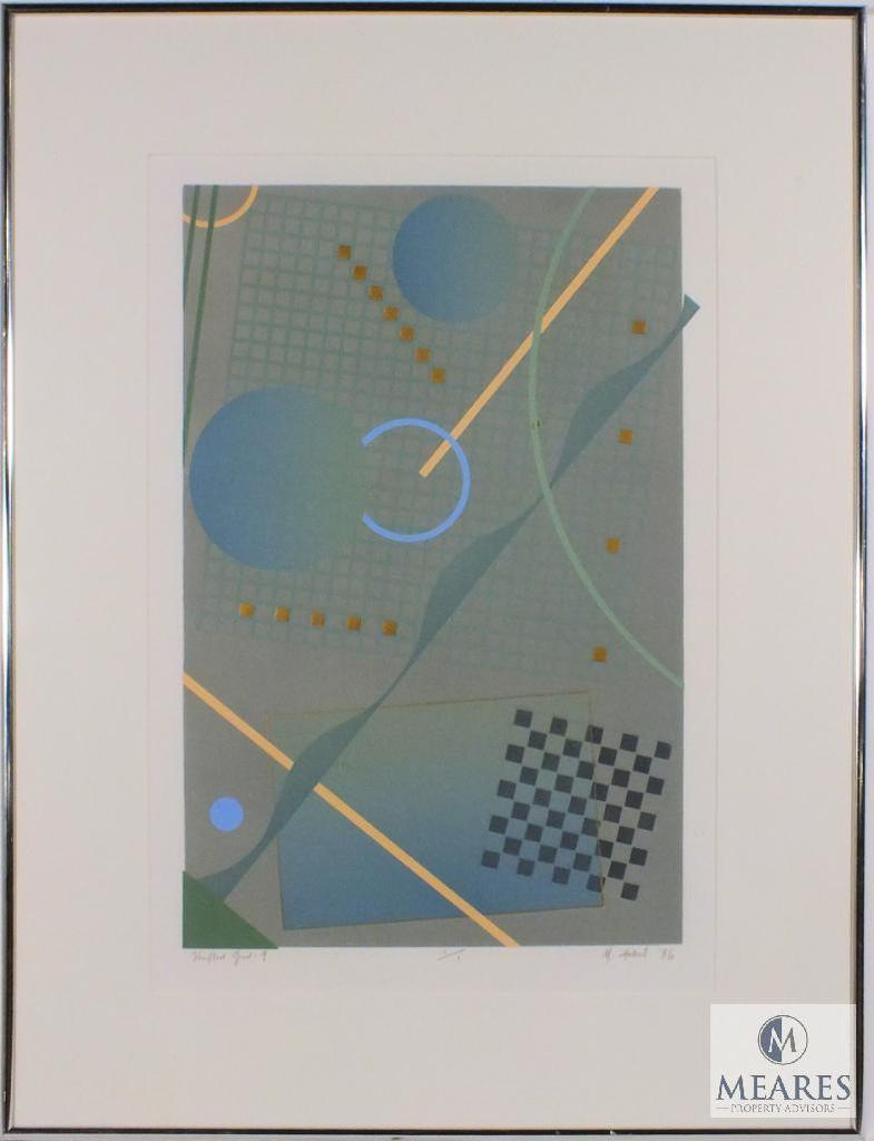 "M. Hubert Shifted Grid : 9 Geometric Art 1 of 1 Framed 24"" x 31"""