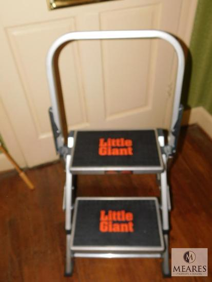 Little Giant Safety Step Aluminum Step Ladder with Adjustable Handle
