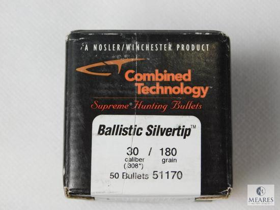 Ballistic 30 Caliber, 180 Grain Bullets, Approximately 50 Count Nosler