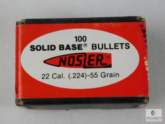 Nosler 22 Caliber, 5 Grain Bullets, Approximately 100 Count