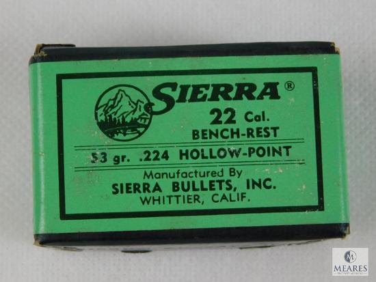 Sierra 22 Caliber, 53 Grain, Benchrest Bullets, Approximately 100 Count