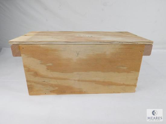 Homemade Wooden Ammo Box