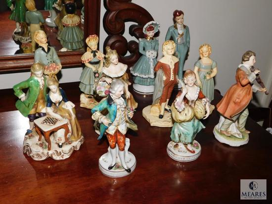 Lot 11 Victorian Porcelain Figurines Made in Japan
