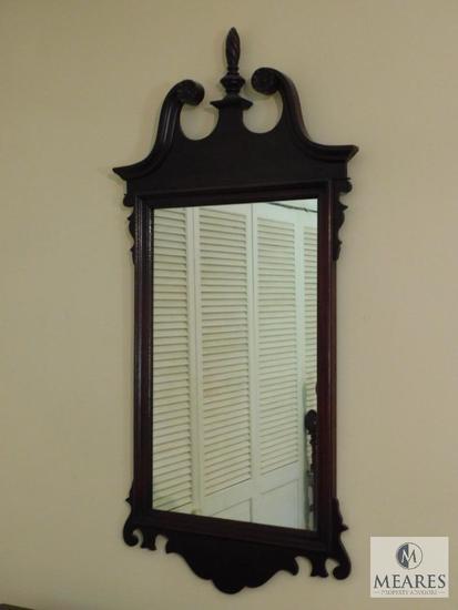 """Vintage wood frame mirror 24"""" x 48"""""""