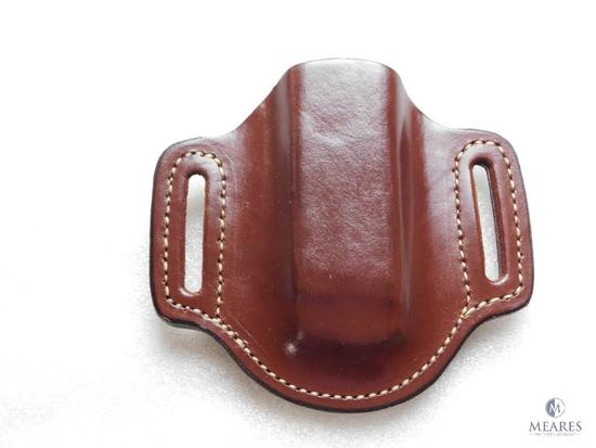 New Hunter leather mag pouch for Glock and similar staggered magazines