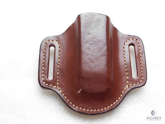 New Hunter leather mag pouch for glocks and similar staggered magazines