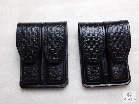 2 New leather double mag pouches for Colt 1911 and other single stack magazine