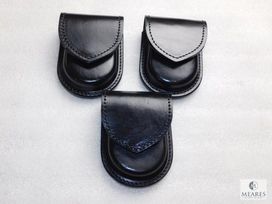 3 new leather handcuff cases