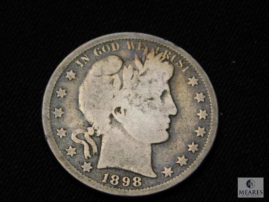 1898-S Barber Half Dollar