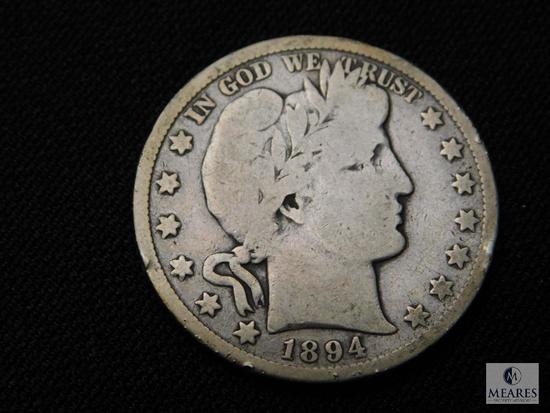 1894-S Barber Half Dollar