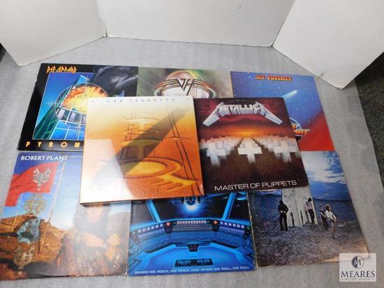 Lot New Led Zeppelin 4 CD Set & 10 Rock LP's 33's Metallic Van Halen Deep Purple +