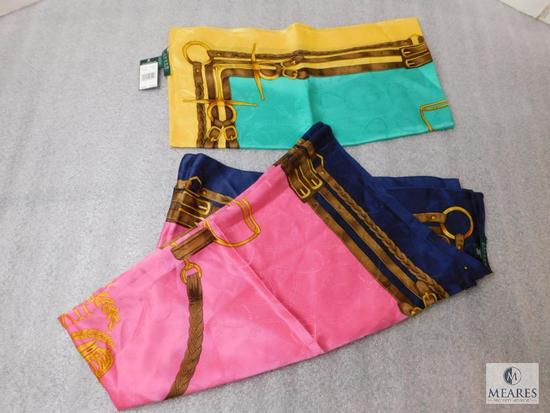 Lot 2 Ralph Lauren Silk Scarves 1 Scarf new with tags