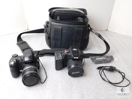 Lot 2 Digital Cameras; Fuji S5100 & Kodak Full HD 1080 + Camera Bag