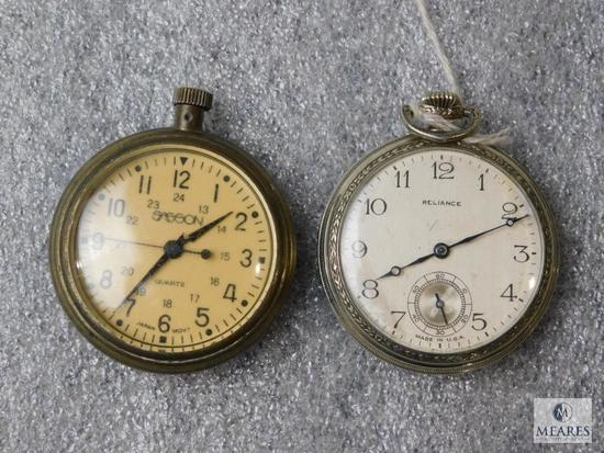 Lot 2 Vintage Pocket Watches Sasson & Reliance