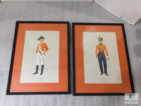 """Lot 2 Field Officer Framed Picture Prints 13"""" x 17"""" each"""