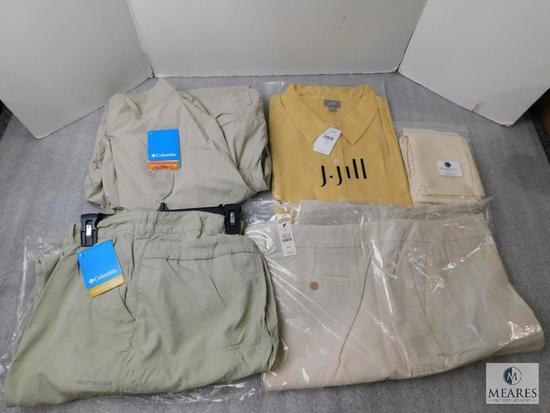 Lot New Women's Talbots Shorts 24W, 2) Columbia 24W Pants, J.Jill 4X Dress Shirt, & Celestial Gift