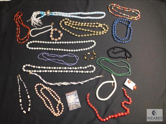 Costume jewelry Beaded necklaces etc.