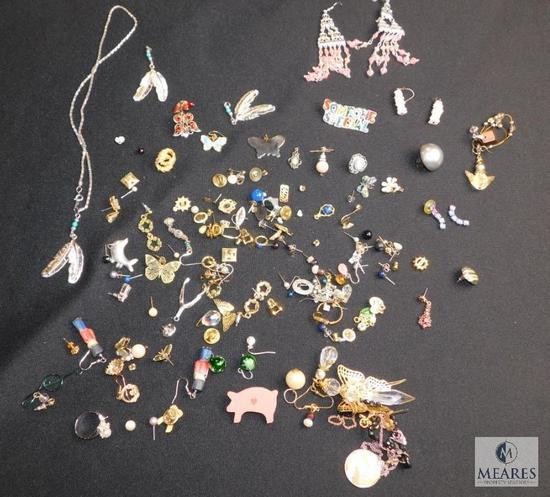 Crafters lot- broken pieces, mismatched, some ready to wear, etc.