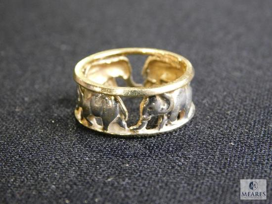 14k elephant ring approx. size 7