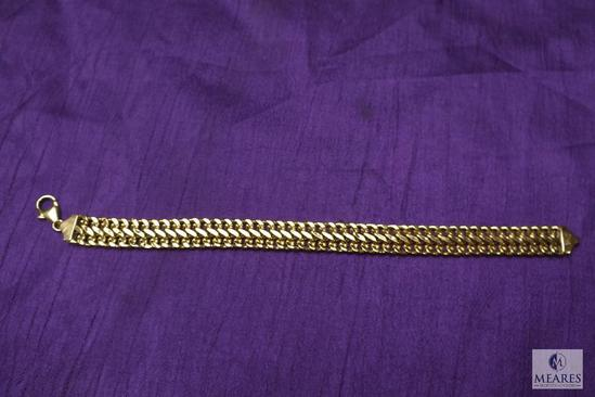 14K Gold Thick Chain Bracelet 7""