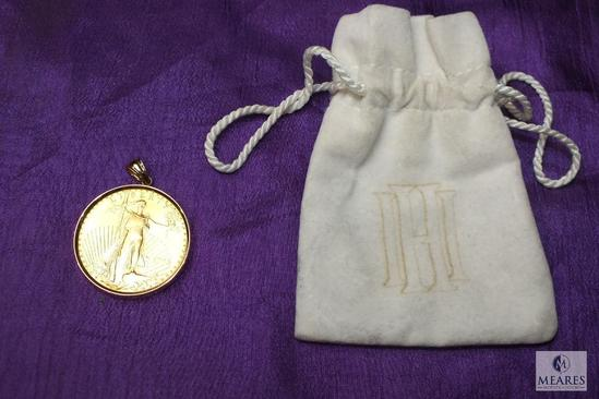 1-ounce $50 Gold Walking Liberty Coin Pendant Charm