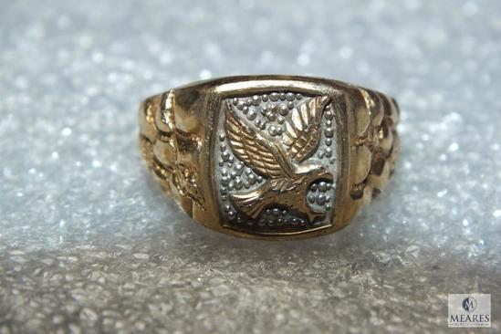 10K Gold Mens Eagle Ring5.045