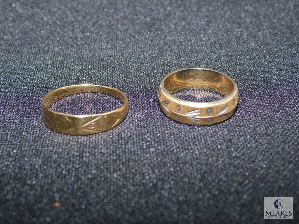 14k yellow gold rings