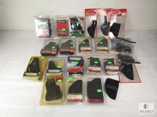 Lot 22 New various Semi-Auto Pistol Holsters for ankle & hip; Bulldog, Blackhawk, & Uncle Mike's