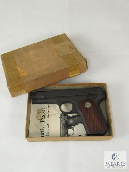 Colt 1903 .32 Auto Hammerless Pocket Pistol US Property - Air Force Lt. General