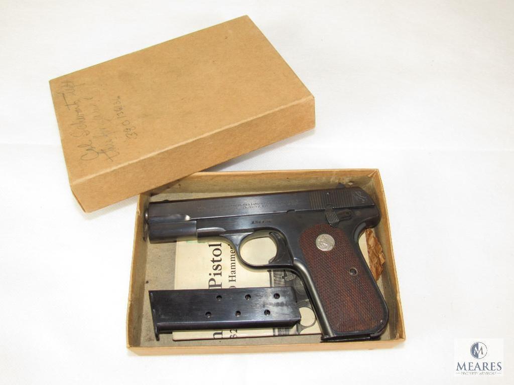 Colt 1908 .380 Hammerless Pocket Pistol US Property - Air Force General