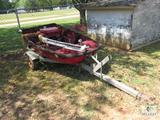 Custom Craft 1 Man Bass Boat with Trolling Motor and Trailer