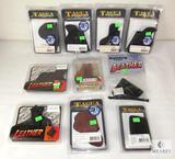 Lot 10 New Leather / Soft Small Pistol Handgun Holsters Tagua, Blackhawk, & Bulldog