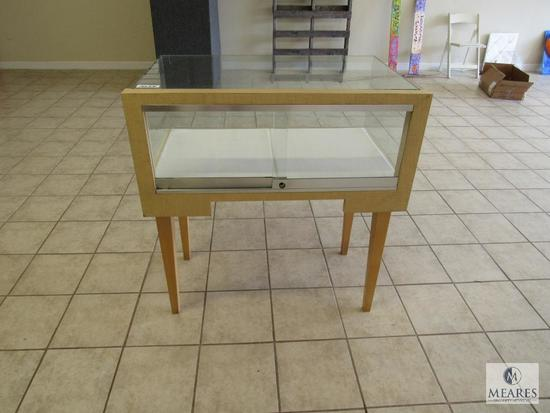 Glass and wood display case