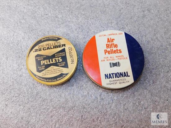 Lot 2 Cans of Air Rifle Pellets .22 Cal Approximately 125 total