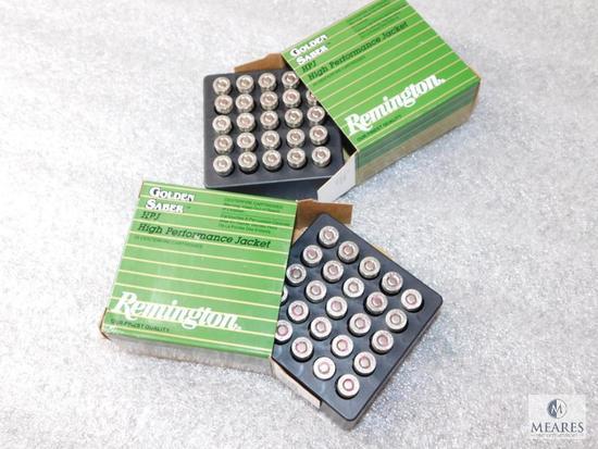 50 Rounds Remington Golden Saber .380 Auto HPJ Ammunition 102 Grain Bullets