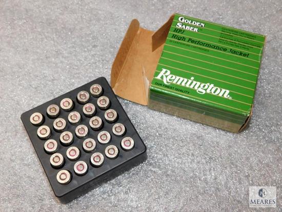 25 Rounds Remington Golden Saber .380 Auto HPJ Ammunition 102 Grain Bullets