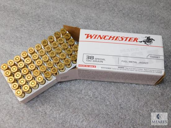 50 Rounds Winchester 38 Special Ammunition 130 Grain Bullets