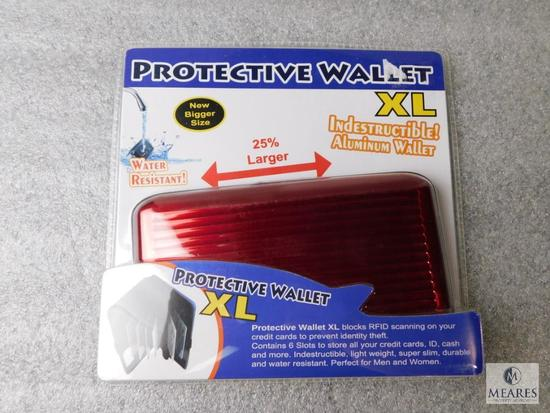 XL Indestructible Aluminum Wallet Protective Water Resistant New